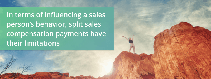 pitfalls of split sales comp payments