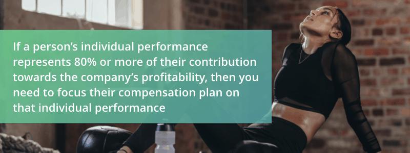 determine individual performance