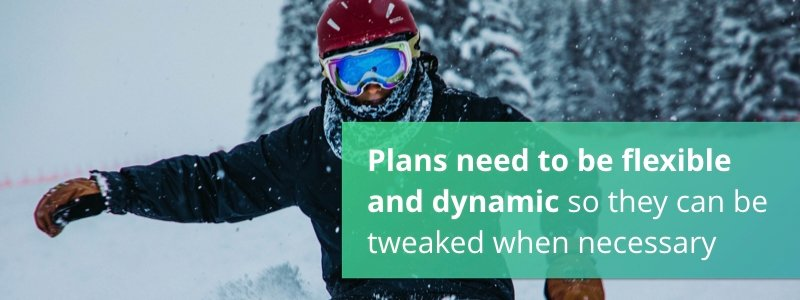 Plans need to be flexible and dynamic so they can be tweaked when necessary
