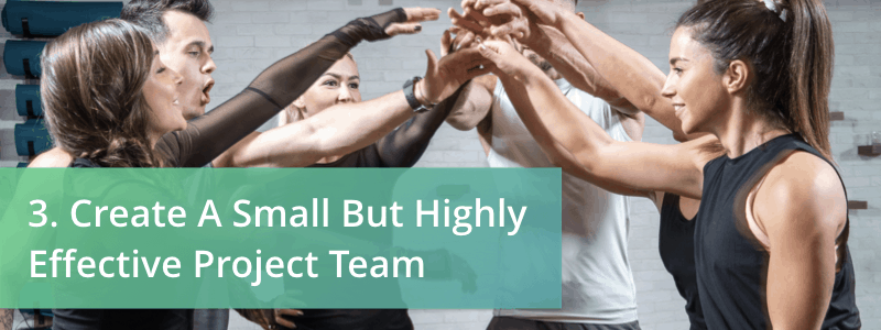 create a small but highly effective project team