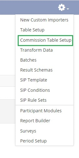 sales commission table
