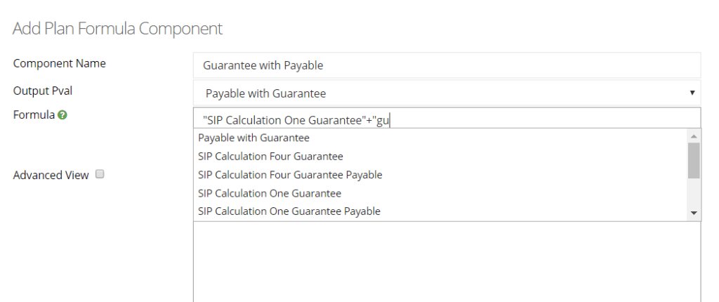 formula component enhancement