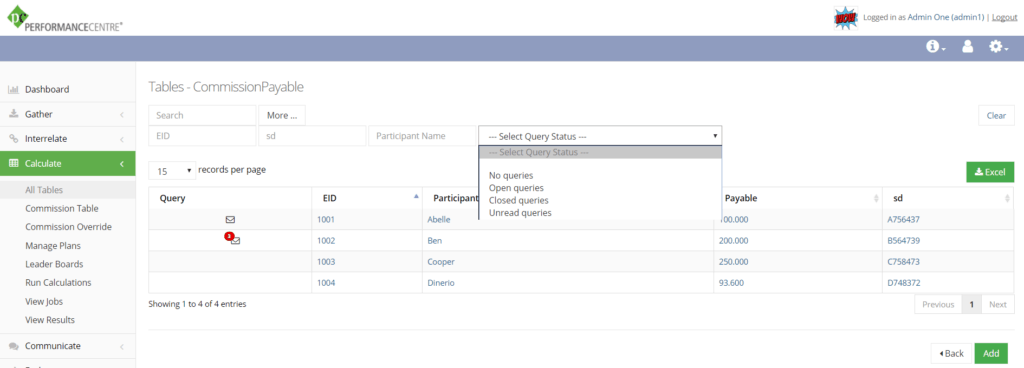 queries on custom table list view