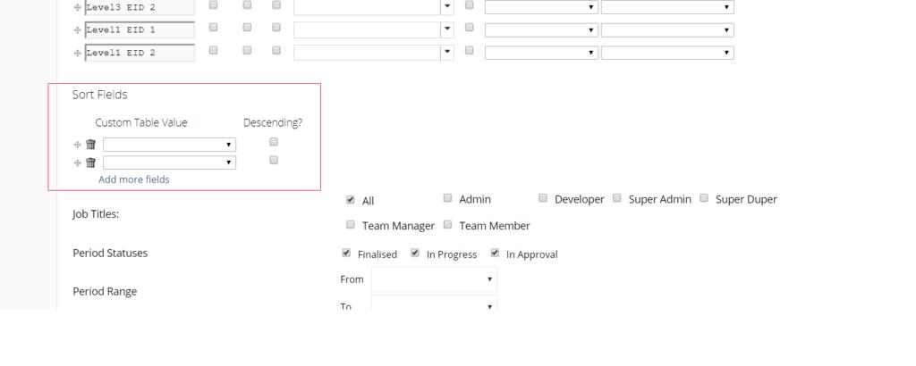 default sorting