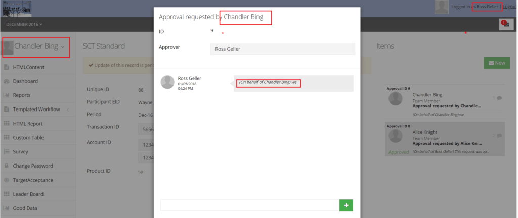 approval request creation