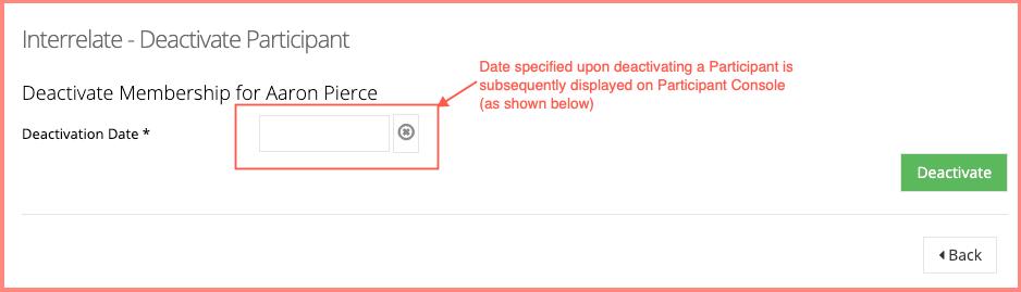 Participant deactivation date 1