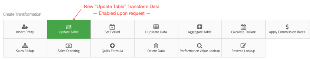 Transform Data Update Table