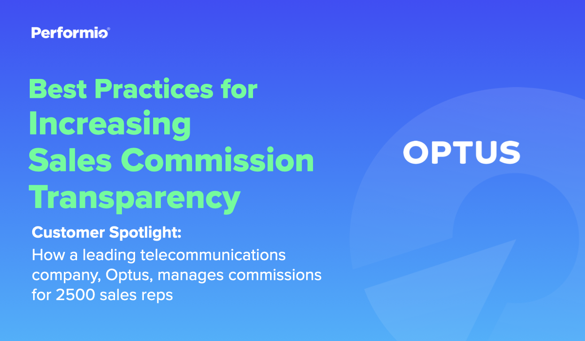 Increasing Sales Commission Transparency